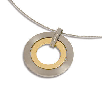 0718-01 Boccia Titanium Wedge Pendant  (choose chain separately)