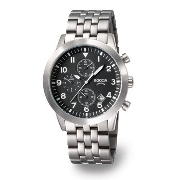 3772-02 Mens Boccia Titanium Chronograph Watch