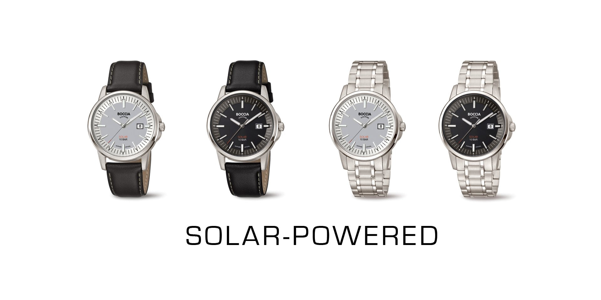 Solar-powered watches
