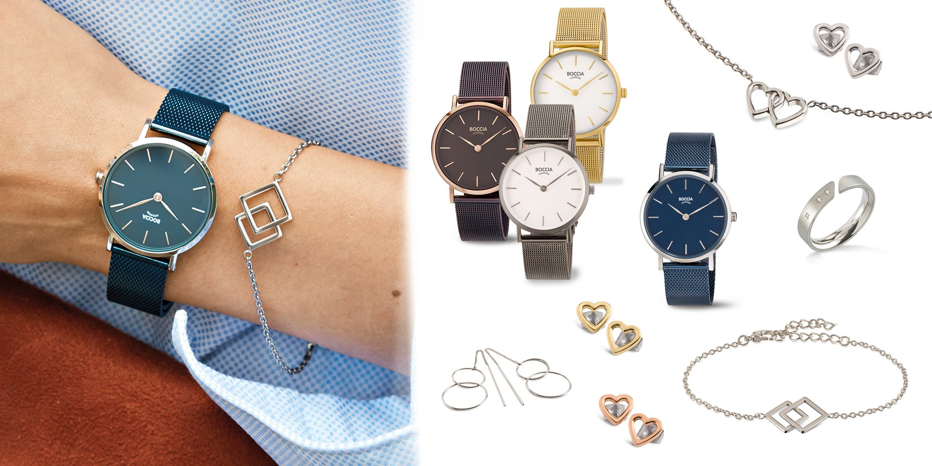 Boccia Titanium Jewelry and Watches