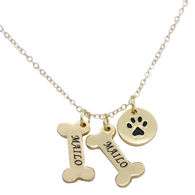Custom Dog Bone Necklace