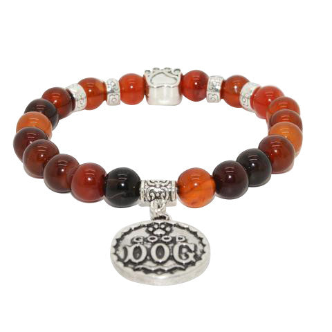 Good Dog Natural Stone Bead Bracelet