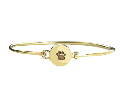 Paws For Peace Dog Paw Print Bangle Bracelet