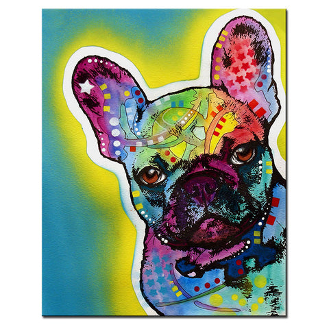 French Bulldog Multi Color Canvas Picture