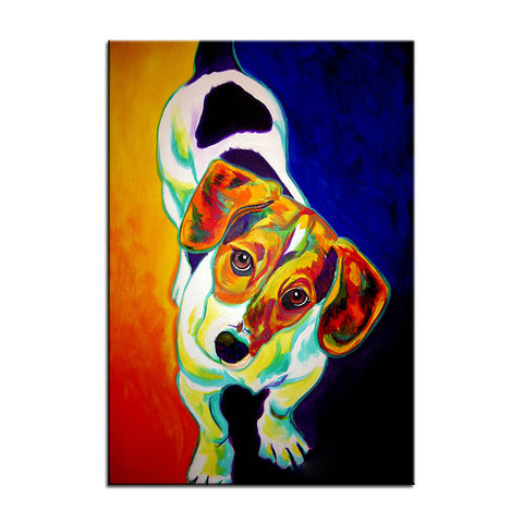 Beagle Multi Color Canvas Picture
