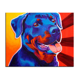 Rottweiler Multi Color Canvas Picture