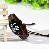 I Love My Dog Leather Wrap Bracelet - Just Love Dogs