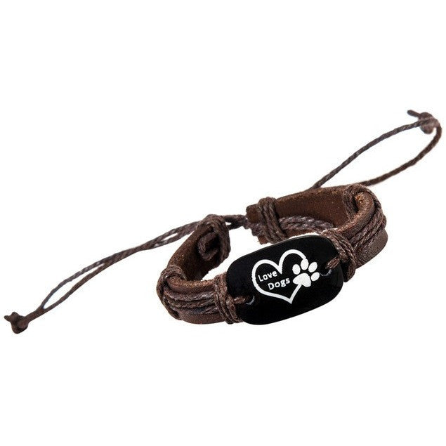 Love Dogs Leather Wrap Bracelet - Just Love Dogs