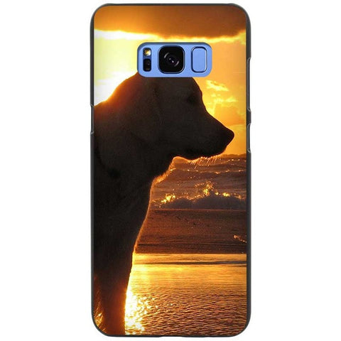 Labrador Retriever In The Sunset Silicone Phone Cases For Samsung