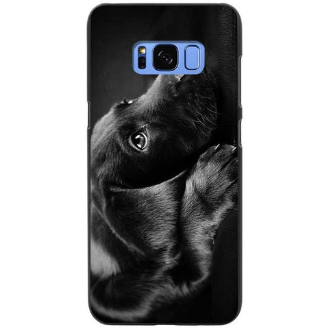 Sleepy Black Labrador Retriever Silicone Phone Cases For Samsung