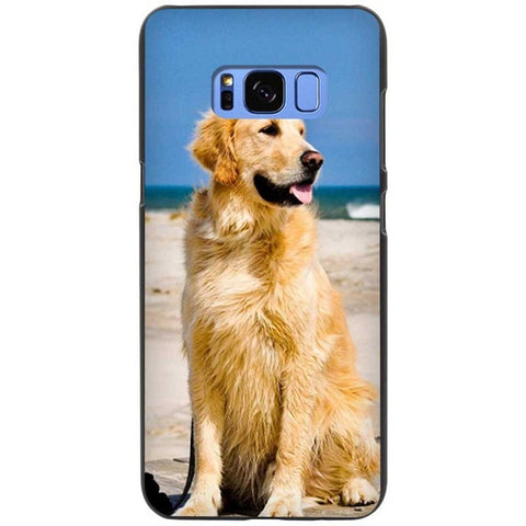 Beach Bound Golden Retriever Silicone Phone Cases For Samsung