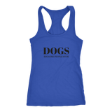 Dogs Because People Suck Racerback Tank