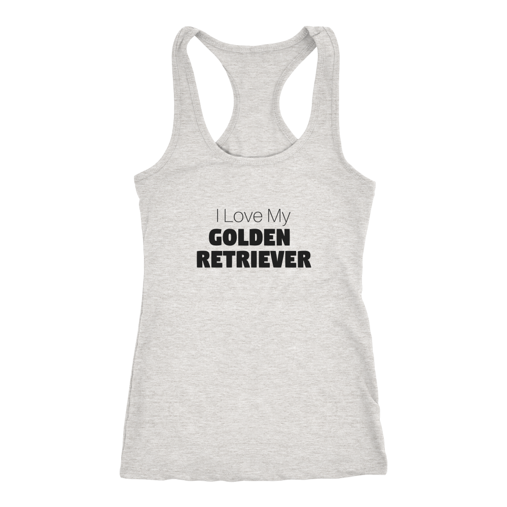 I Love My Golden Retriever Racerback Tank