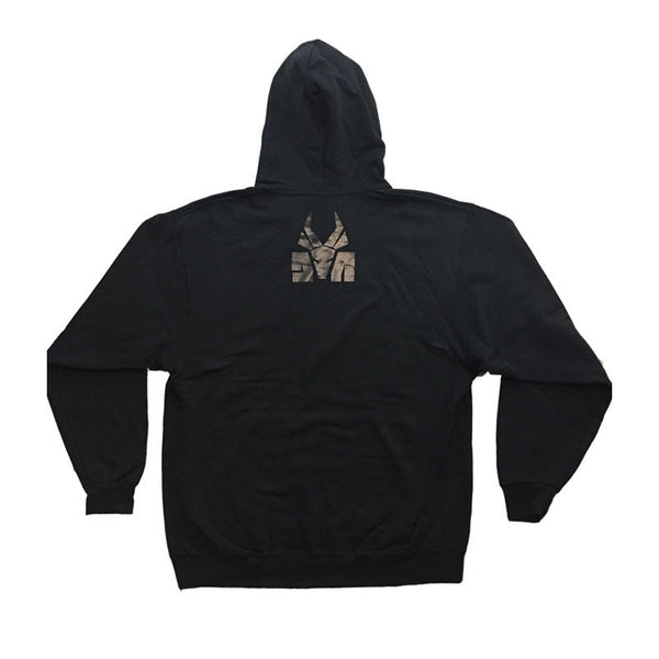 BLACK ON BLACK DA LOGO HOODY - LTD EDITION