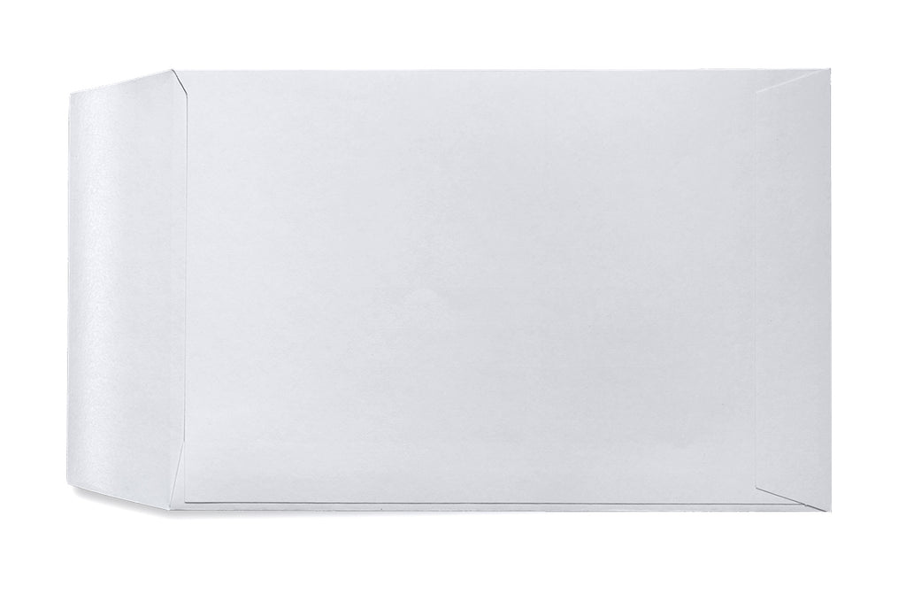 Image of back of ghost paper envelope with side closure