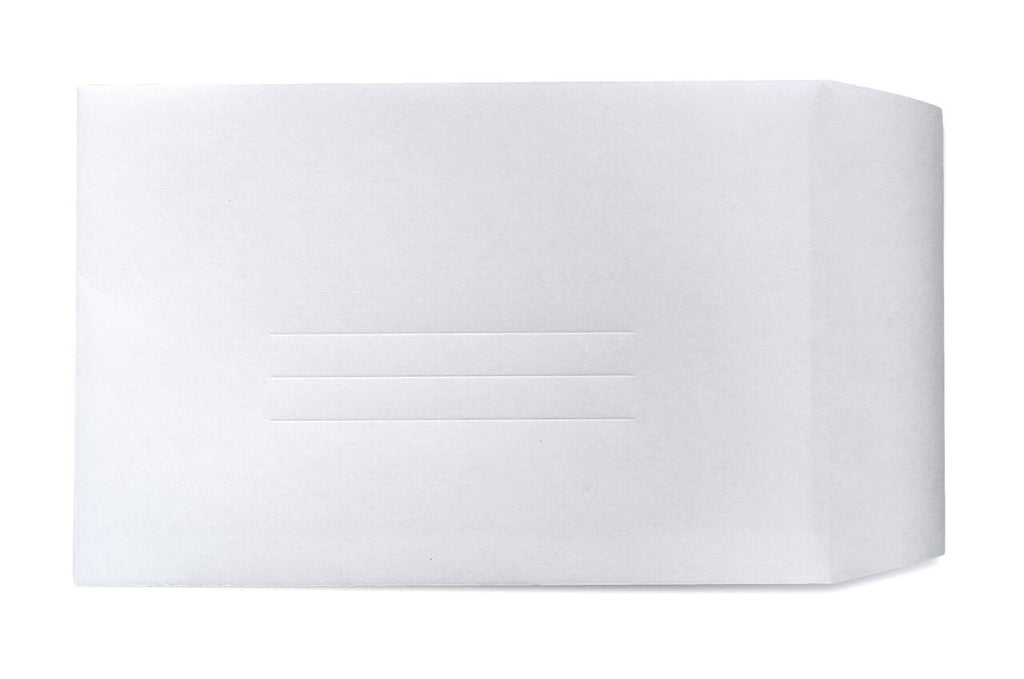 Image of ghost paper envelope with three debossed address lines