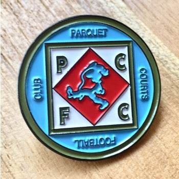 One Inch Parquet Courts Football Club enamel pin