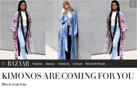 Link to Harpers Bazaar Article on Open The Kimono