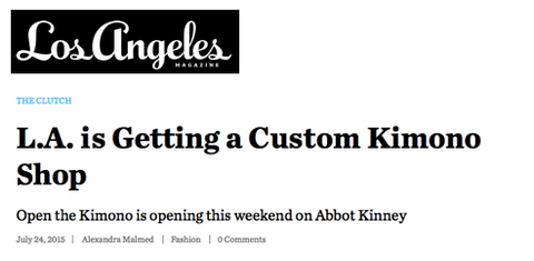 Link to Los Angeles Magazine article on Open The Kimono