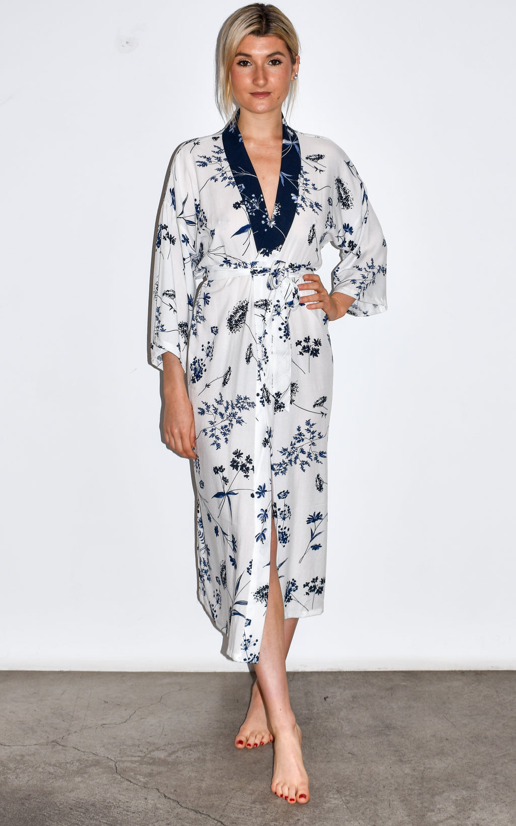 Kimono, robe, beach cover up handmade by women in Venice, CA.
