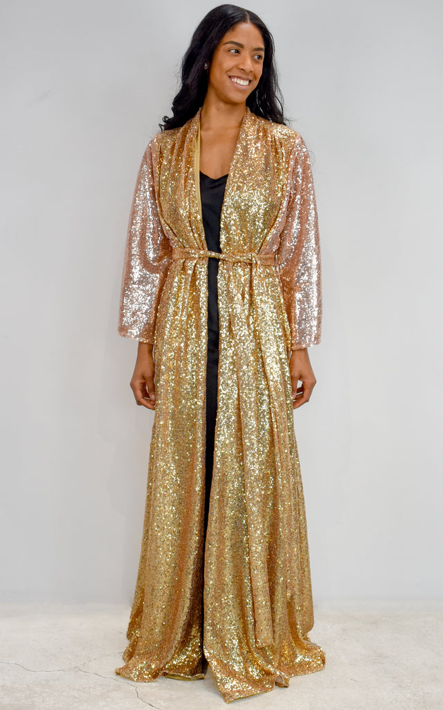 Gold Sequin Hedy Gown