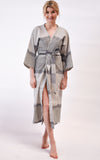 Handmade cotton ikat kimono/ robe/ duster made in Venice, CA.