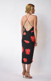 Falling Poppies Slip Dress