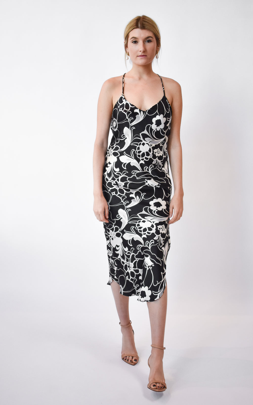 Mod Floral Slip Dress