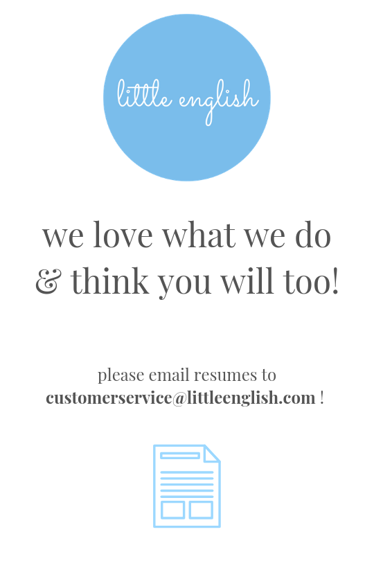 Little English, Little English Clothing, Little English Team, The LE Team, Little English jobs, Little English careers