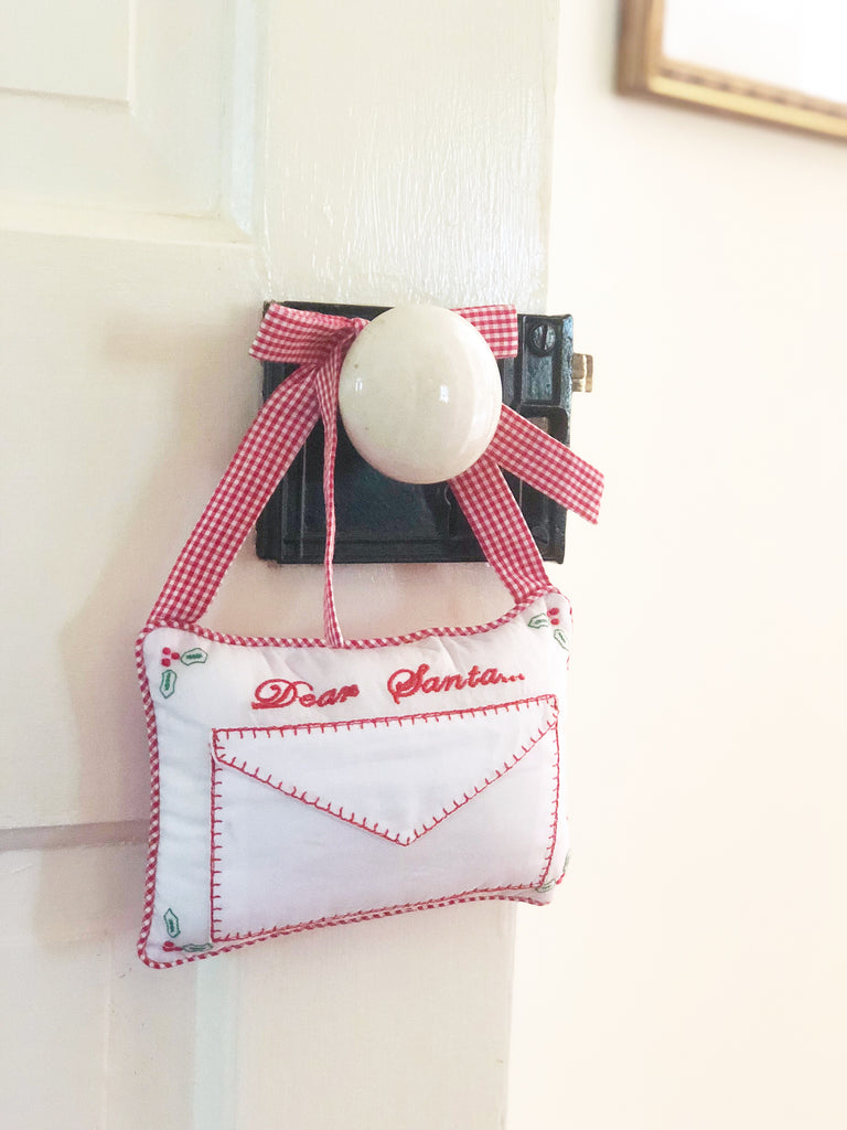 Little English, Dear Santa Door Pillow