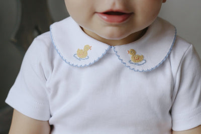 Duck Pinpoint Shirt, Little English, classic children's clothing, preppy children's clothing, traditional children's clothing, classic baby clothing, traditional baby clothing