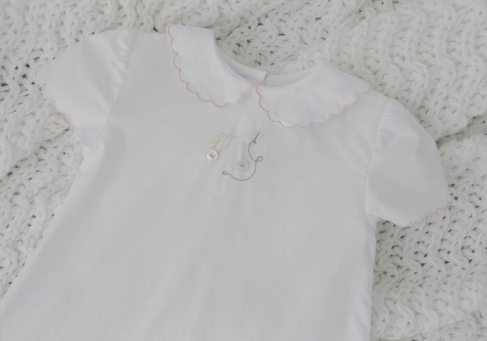 Day Blouse-Rocking Horse, Little English, classic children's clothing, preppy children's clothing, traditional children's clothing, classic baby clothing, traditional baby clothing