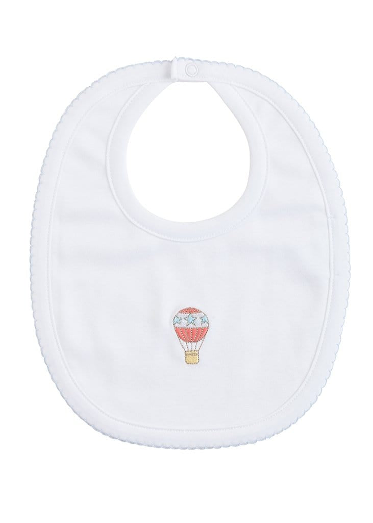 Embroidered Bib - Hot Air Balloon, Little English, classic children's clothing, preppy children's clothing, traditional children's clothing, classic baby clothing, traditional baby clothing