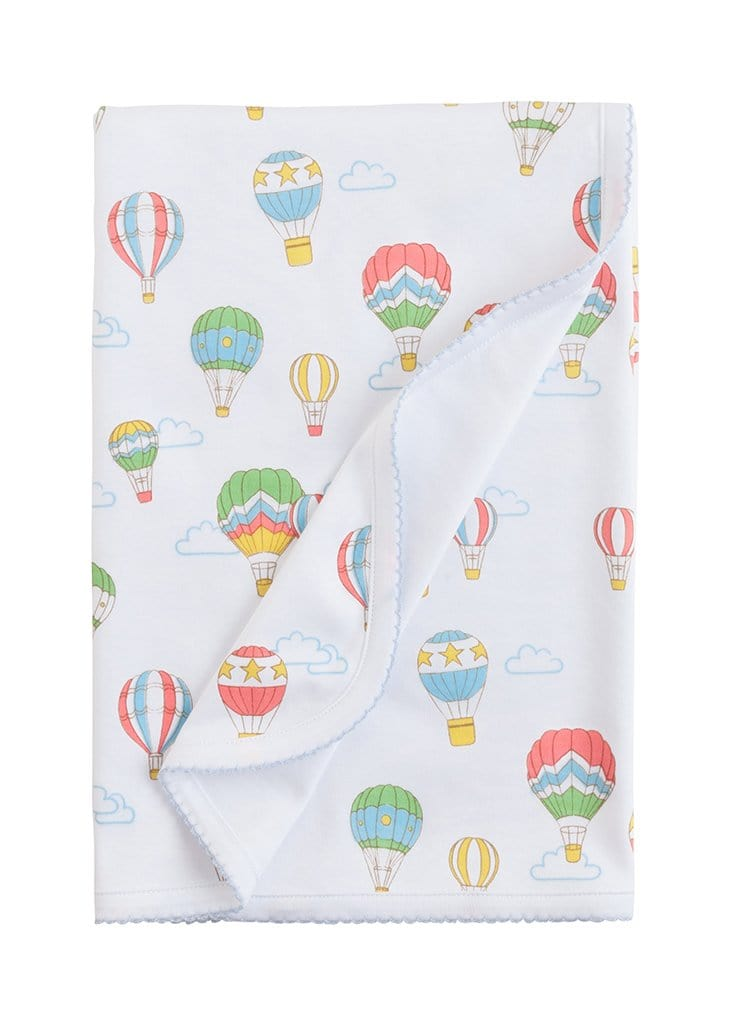 Printed Blanket - Hot Air Balloon, Little English, classic children's clothing, preppy children's clothing, traditional children's clothing, classic baby clothing, traditional baby clothing