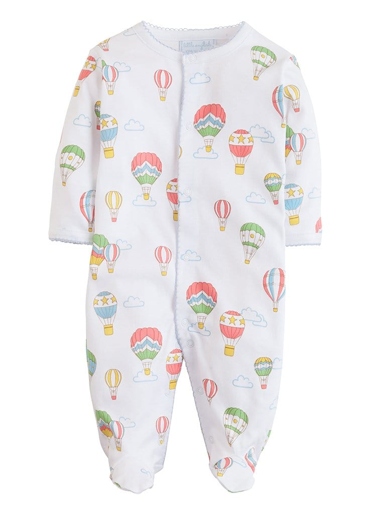Printed Balloon Footie, Little English, classic children's clothing, preppy children's clothing, traditional children's clothing, classic baby clothing, traditional baby clothing