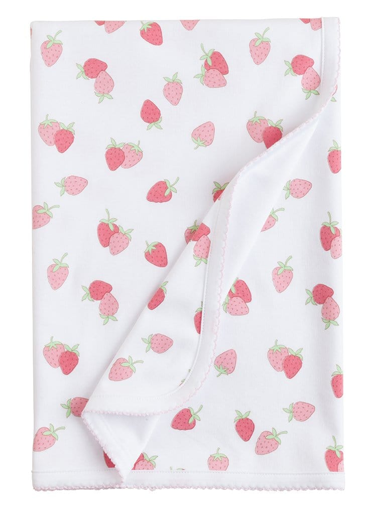 Printed Strawberry Blanket, Little English, classic children's clothing, preppy children's clothing, traditional children's clothing, classic baby clothing, traditional baby clothing