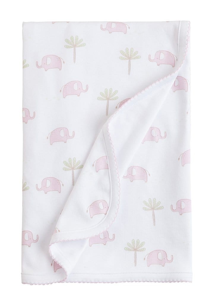 Pink Printed Elephant Blanket, Little English, classic children's clothing, preppy children's clothing, traditional children's clothing, classic baby clothing, traditional baby clothing