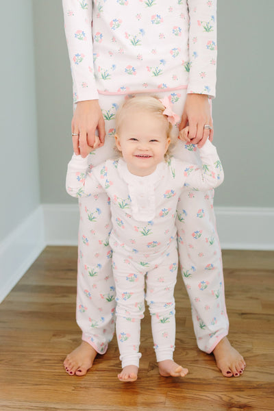 Chelsea Garden Jammies, Little English, classic children's clothing, preppy children's clothing, traditional children's clothing, classic baby clothing, traditional baby clothing