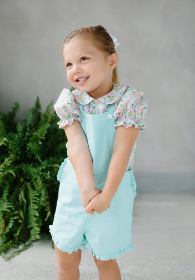 Amy Overall - Honeydew, Little English, classic children's clothing, preppy children's clothing, traditional children's clothing, classic baby clothing, traditional baby clothing