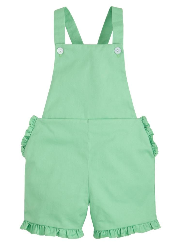 Amy Overall - Kelly Green, Little English, classic children's clothing, preppy children's clothing, traditional children's clothing, classic baby clothing, traditional baby clothing