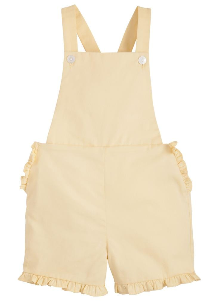 Amy Overall - Lemon, Little English, classic children's clothing, preppy children's clothing, traditional children's clothing, classic baby clothing, traditional baby clothing