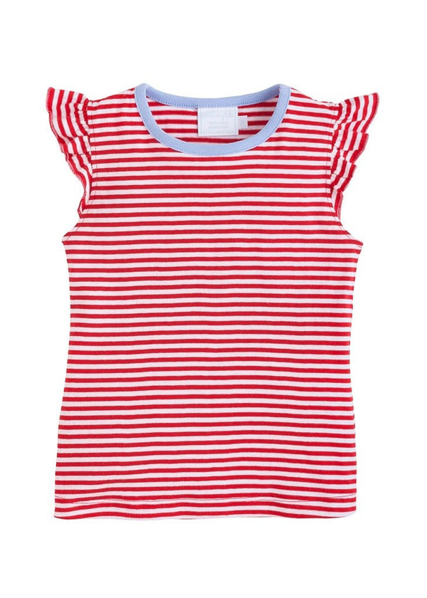 Little English girls striped knit tank top