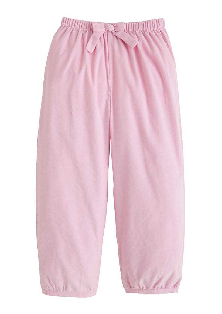 Banded Bow Pants - Light Pink, Little English, classic children's clothing, preppy children's clothing, traditional children's clothing, classic baby clothing, traditional baby clothing