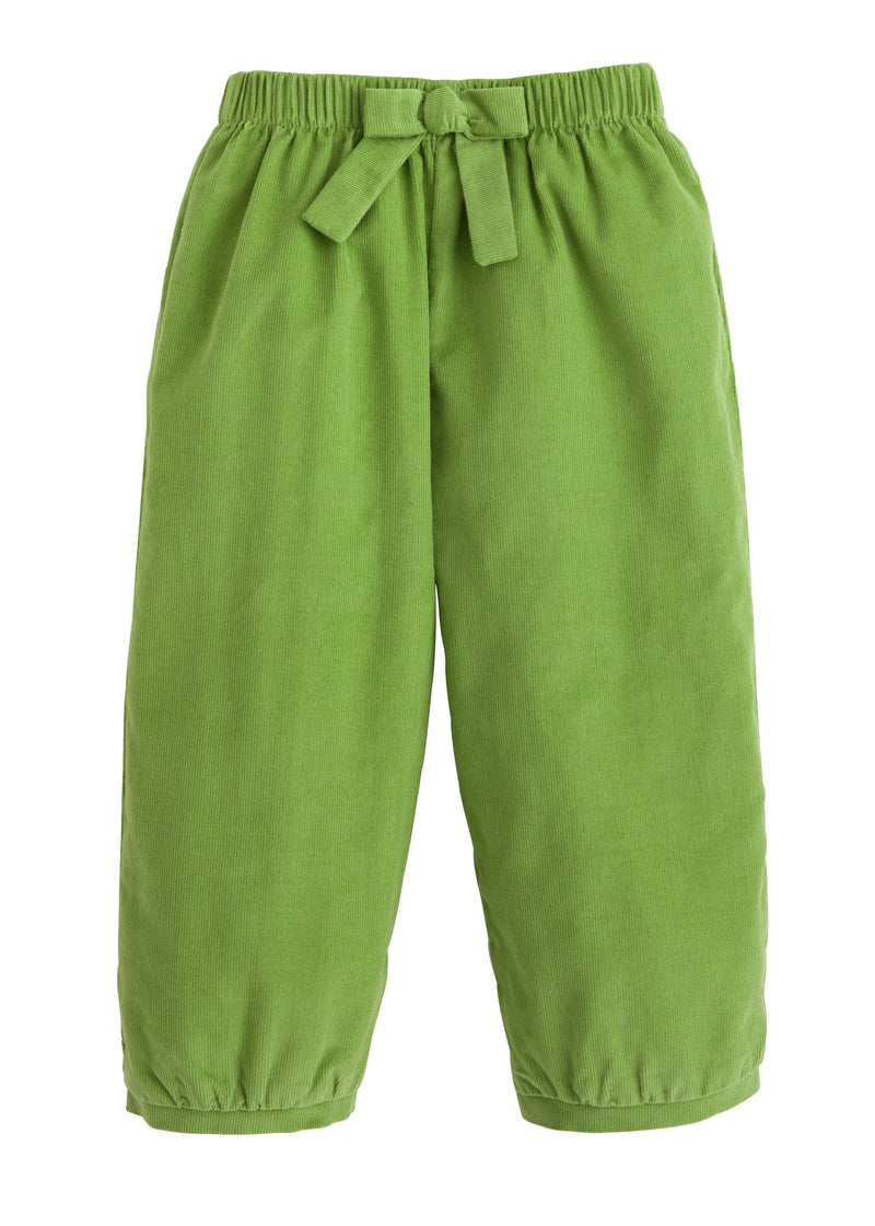 Banded Bow Pants - Sage Green, Little English, classic children's clothing, preppy children's clothing, traditional children's clothing, classic baby clothing, traditional baby clothing