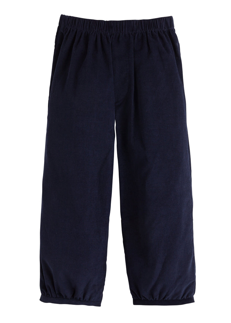 Banded Pull on Pant - Navy, Little English, classic children's clothing, preppy children's clothing, traditional children's clothing, classic baby clothing, traditional baby clothing