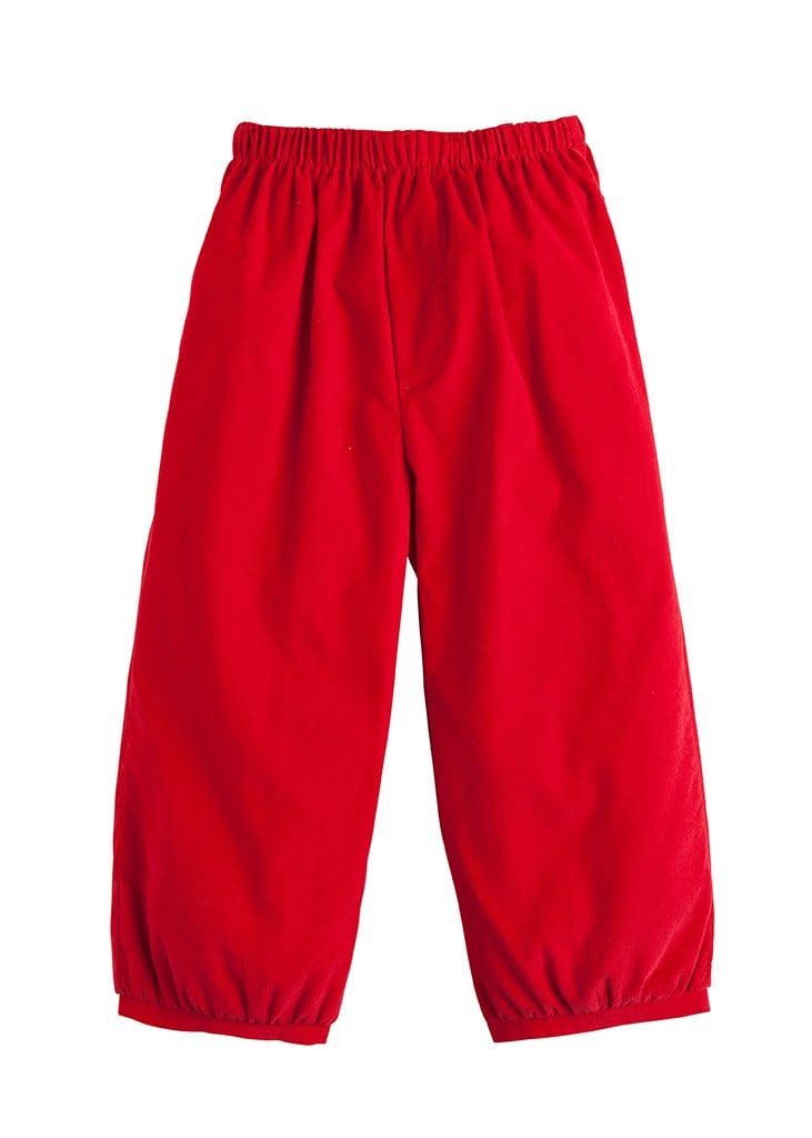 Banded Pull on Pant - Red Corduroy, Little English, classic children's clothing, preppy children's clothing, traditional children's clothing, classic baby clothing, traditional baby clothing
