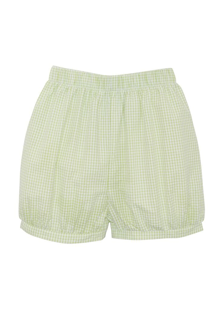 Banded Short - Green Gingham, Little English, classic children's clothing, preppy children's clothing, traditional children's clothing, classic baby clothing, traditional baby clothing