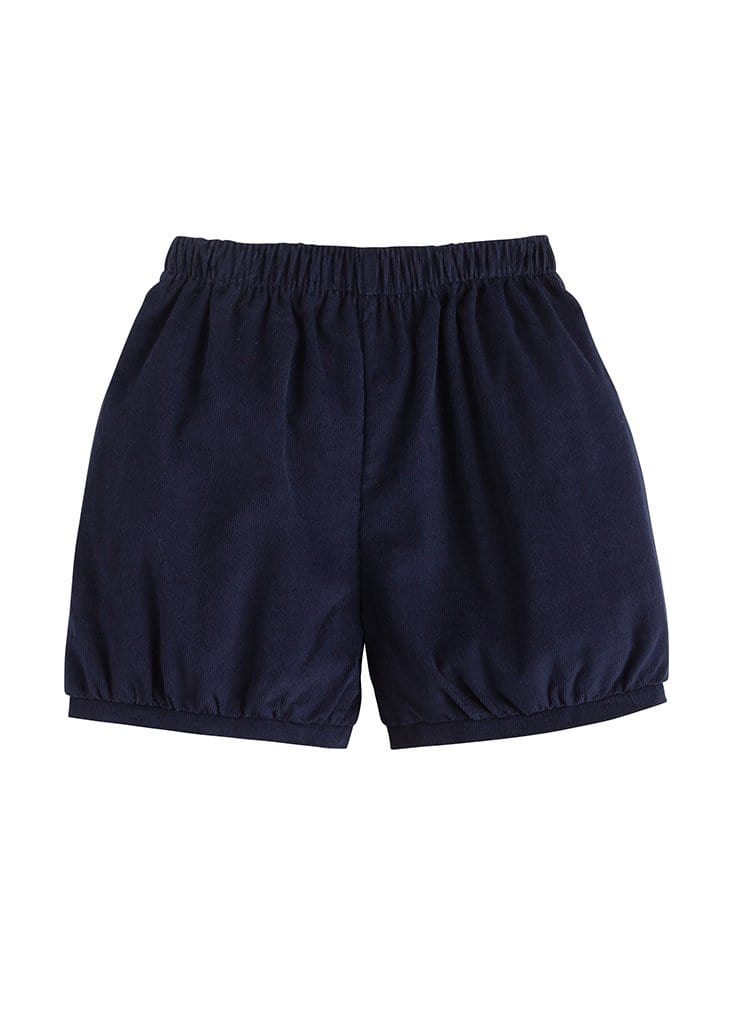 Banded Short - Navy Corduroy, Little English, classic children's clothing, preppy children's clothing, traditional children's clothing, classic baby clothing, traditional baby clothing