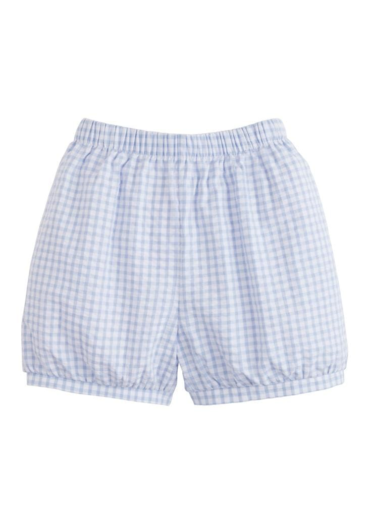 Banded Short - Light Blue Gingham, Little English, classic children's clothing, preppy children's clothing, traditional children's clothing, classic baby clothing, traditional baby clothing