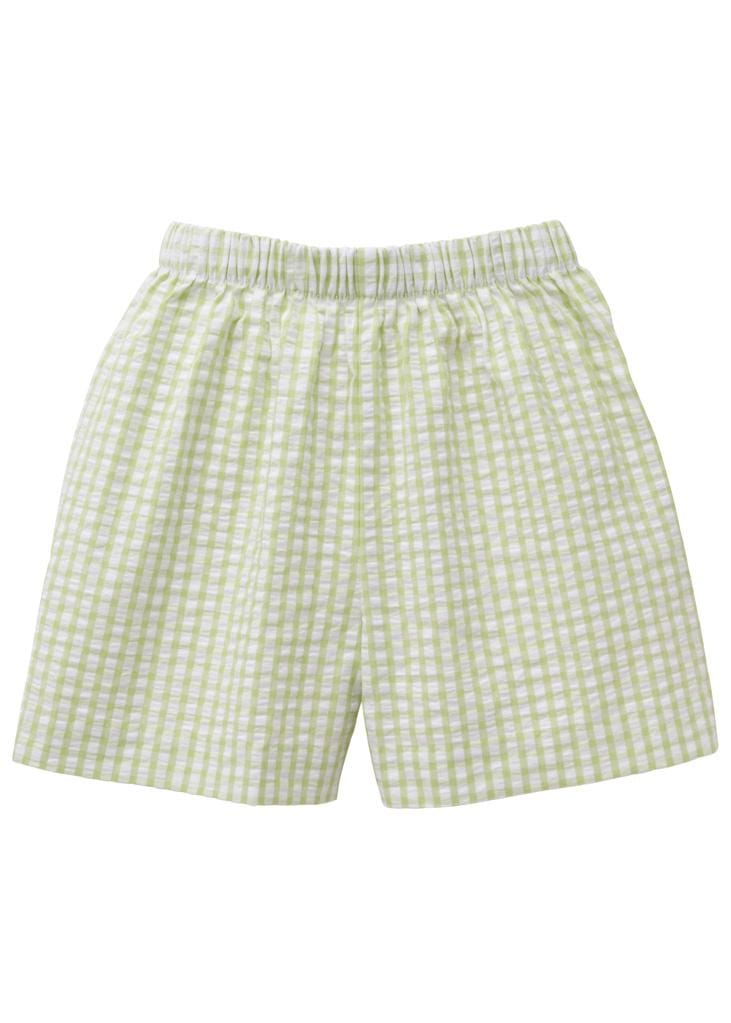 Basic Short - Green Gingham, Little English, classic children's clothing, preppy children's clothing, traditional children's clothing, classic baby clothing, traditional baby clothing